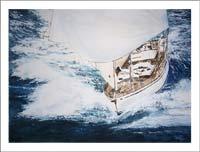 Cuadro de regata de barcos
