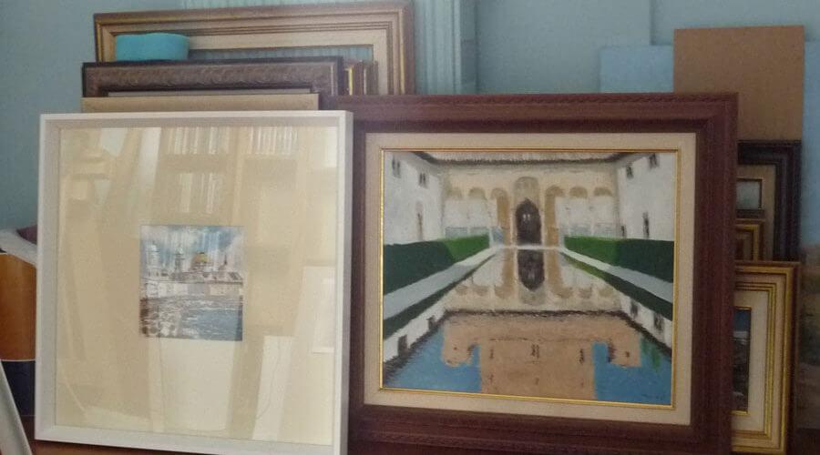 Algunos de los cuadros realizados por Rubén de Luis