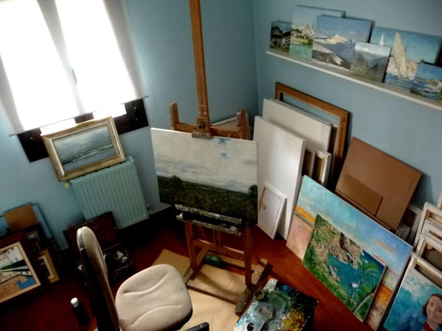 Estudio de pintura Rubén de Luis