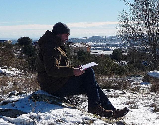 Pintando al aire libre en invierno
