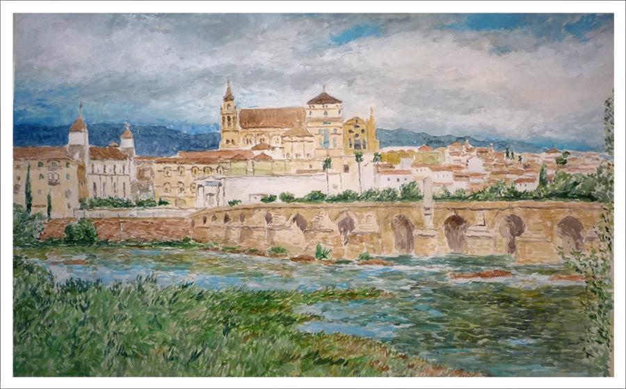 Cuadro en acuarela de Córdoba