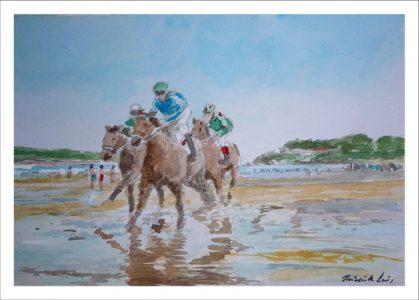 Derby en la playa de Loredo, Cantabria