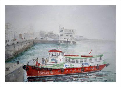 Embarcadero en el Paseo Marítimo de Santander