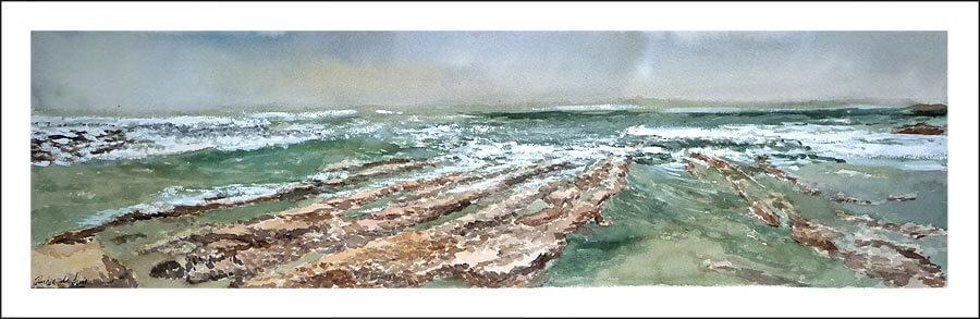 acuarela de una marina de Langre, Cantabria