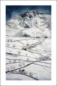 Paisaje de una nevada en los Picos de Europa