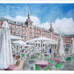 Plaza Mayor de Madrid en verano