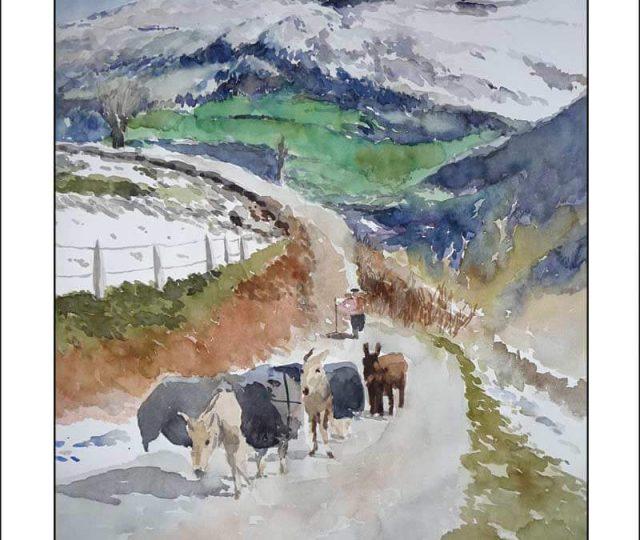 Paisaje de un valle de Cantabria
