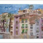 Acuarela de Villa Joyosa, Alicante