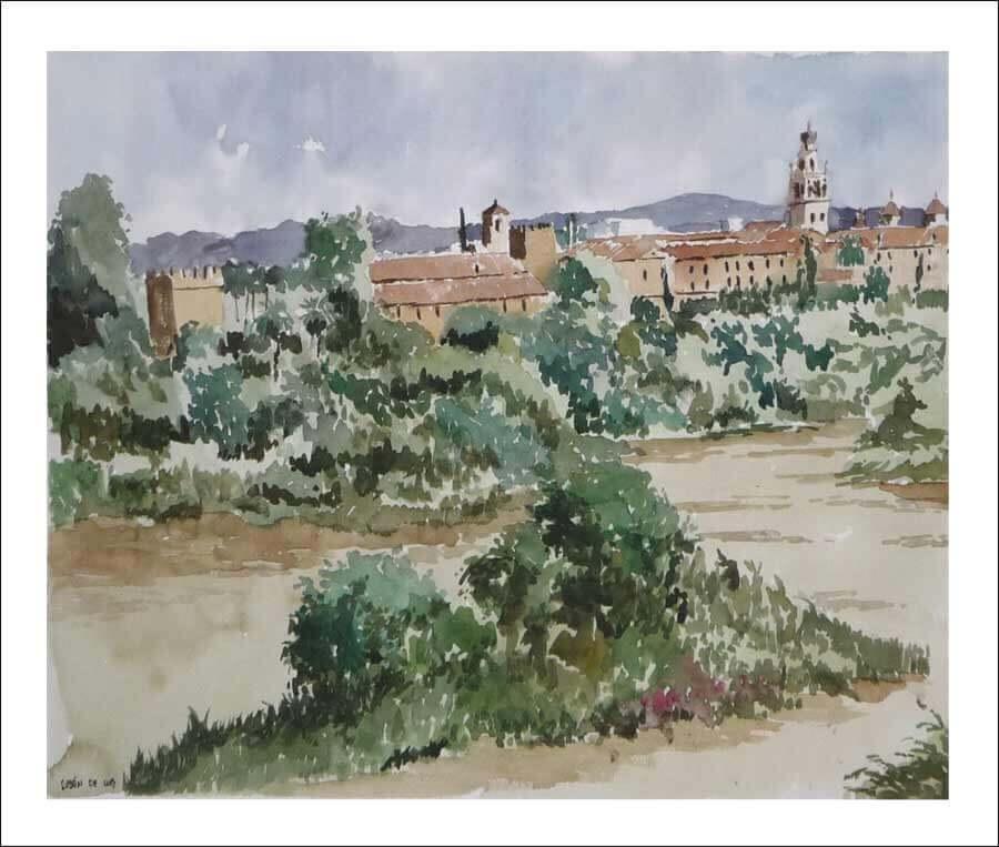 Acuarela de Córdoba.