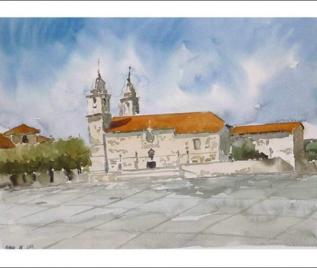 Acuarela de Cambados, Pontevedra