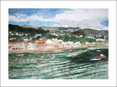 Acuarela de Combarro | Pontevedra