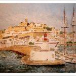 Acuarela de la Dalt Vila, Ibiza