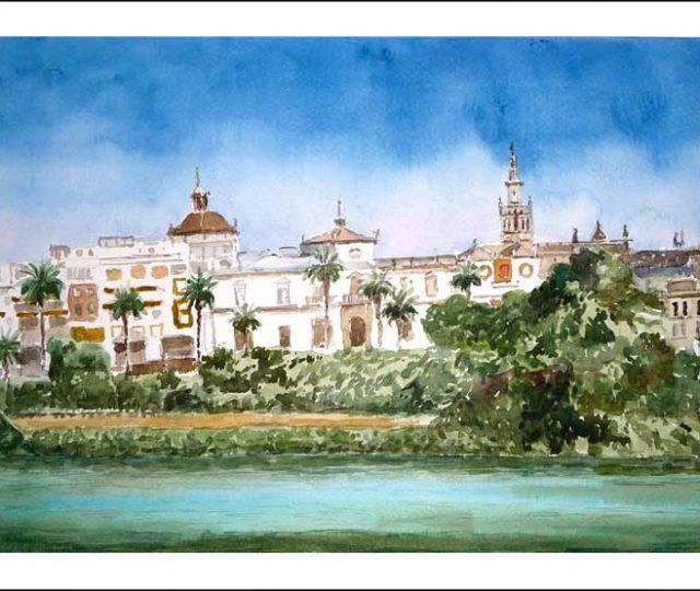 Cuadro en acuarela de Sevilla