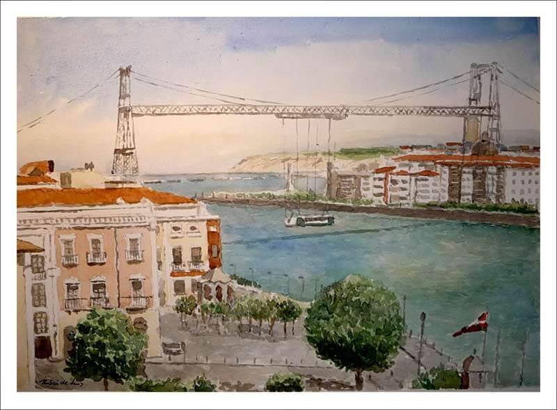 Cuadro de El Puente Vizcaya, Portugalete.