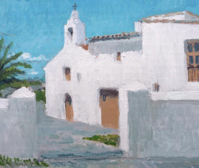Oleo de la iglesia de San Francesc de s'Estany en Ibiza