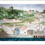 Cudillero, Asturias, Acuarela