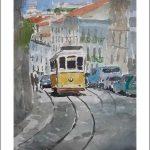 Lisboa, Portugal, acuarela