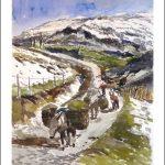 Pasiego en un valle de Cantabria