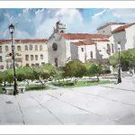 Acuarela de Pontevedra