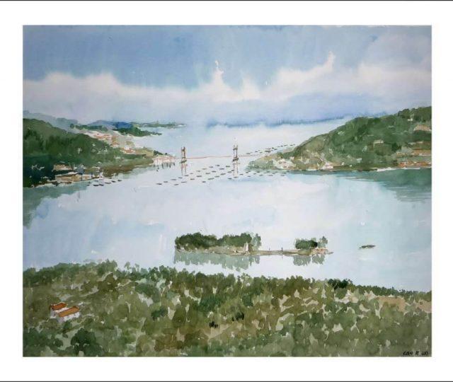 Ría de Vigo, acuarela