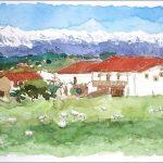 Acuarela de Toñanes, Cantabria
