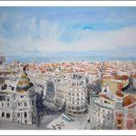 Algunos cuadros de Madrid recién pintados en acuarela
