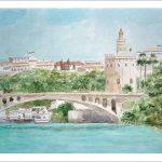 Torre del oro, Sevilla, acuarela