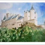 Acuarela del Alcázar de Segovia