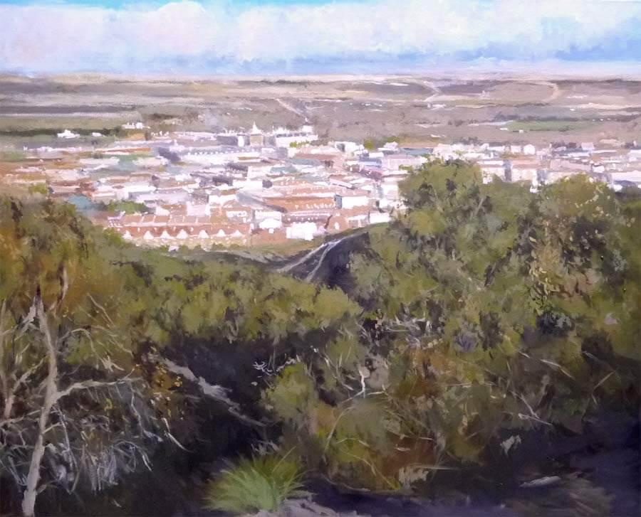 Cuadro al óleo de Aranjuéz