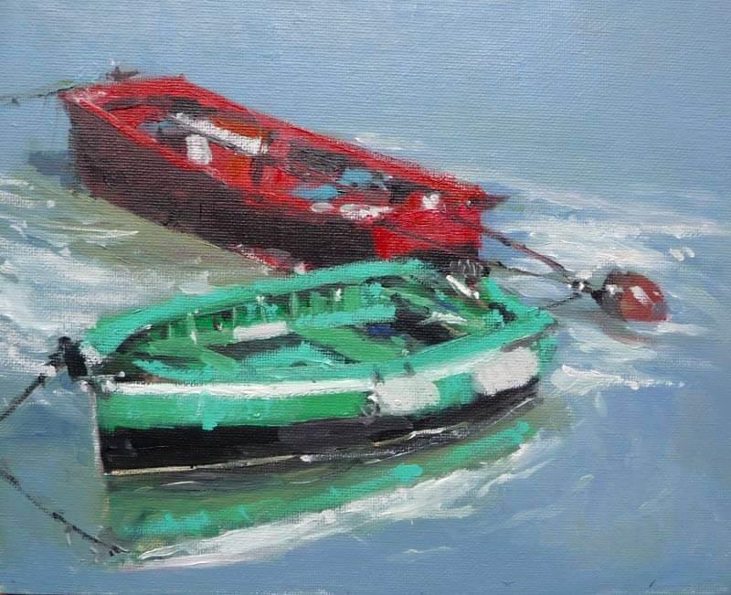 Barcas en Bermeo, Vizcaya