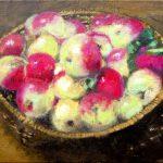 Bodegón de manzanas en un cesto