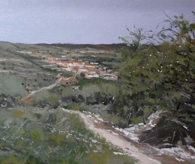 Paisaje al óleo de Brihuega-la Alcarria