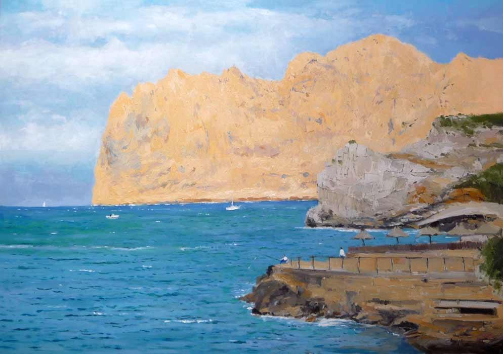 Paisaje de Mallorca al óleo