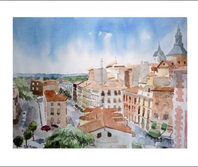 Acuarela de la calle de Segovia