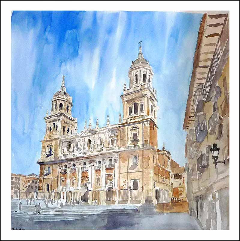 acuarela Catedral de Jaén