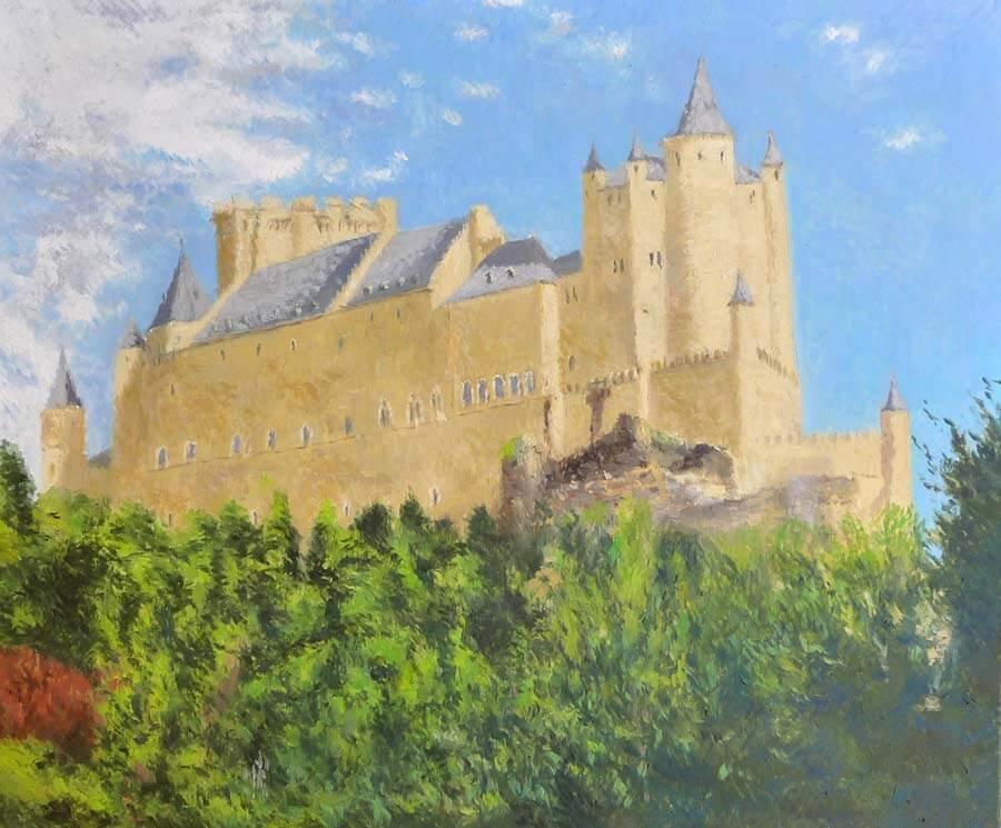 Cuadro al óleo del Alcázar de Segovia
