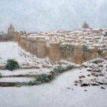 Paisaje nevado de Ávila