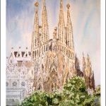 Cuadro de la Sagrada Familia en Barcelona