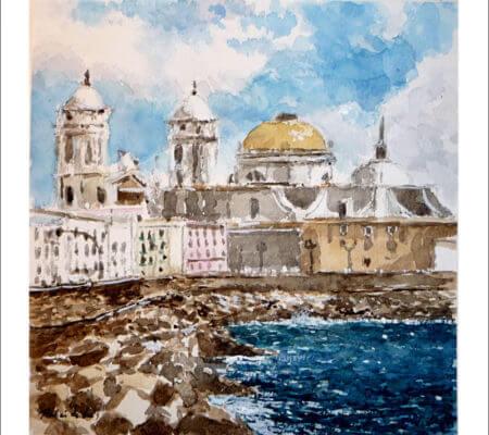Cádiz, cuadro en acuarela