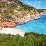Cuadro de una cala de Mallorca