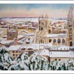 Burgos con nieve