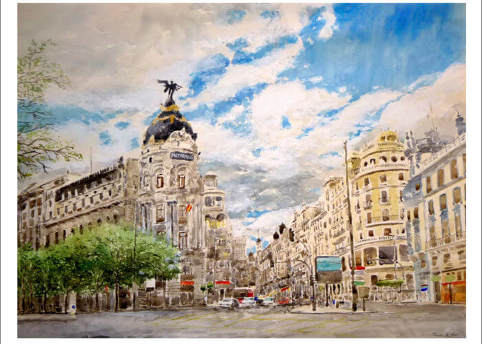 Cruce de Gran Vía y calle de Alcalá