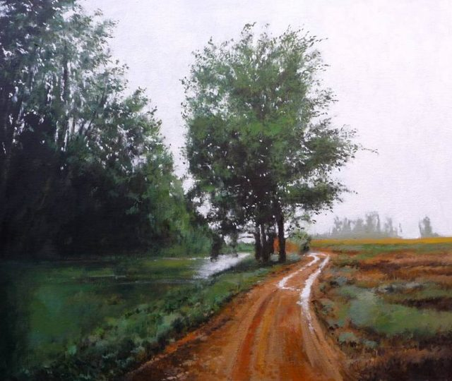 Vereda junto al Canal de Castilla