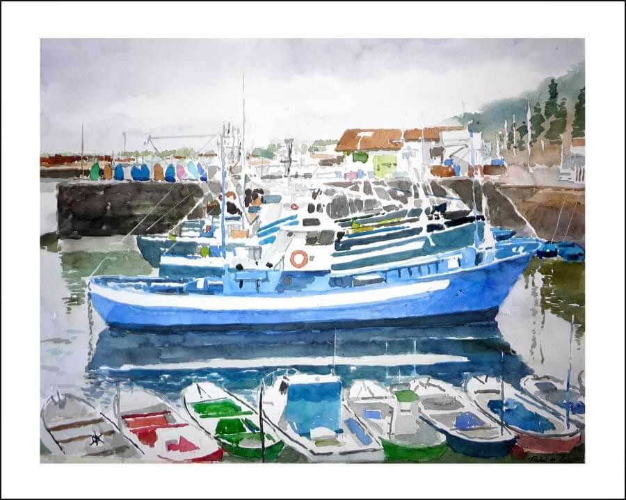 cuadro del puerto de Hondarribia