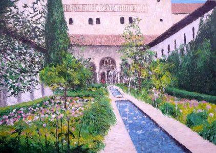 El Patio del Ciprés de la Sultana. Alhambra de Granada