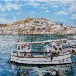 Cuadro al oleo de la Dalt Vila de Ibiza