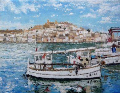 La Dalt Vila en Ibiza desde el puerto