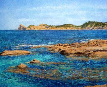 Cuadro al oleo de Jávea, Cabo de San Martín