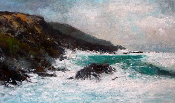 Marina al oleo de Galicia