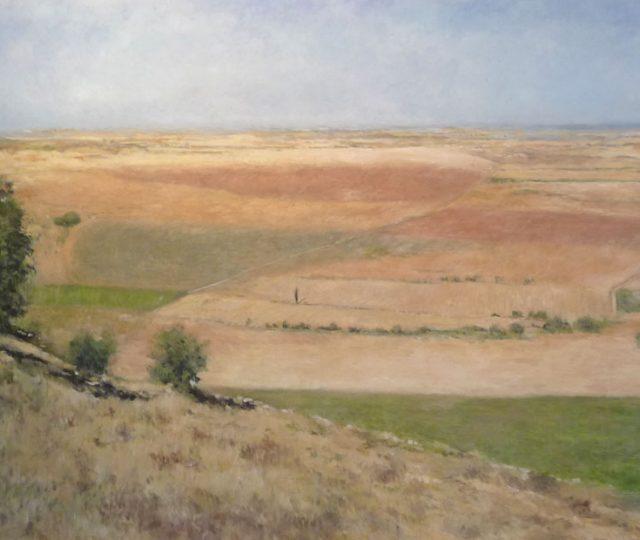 Cuadro a oleo de un paisaje castellano.